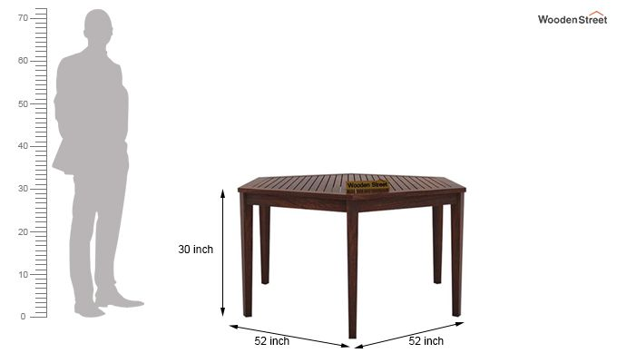 Mohave 6 Seater Dining Table Set (Walnut Finish)-8
