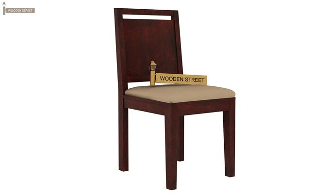 Orson Compact 6 Seater Dining Chair and Table (Mahogany Finish)-5