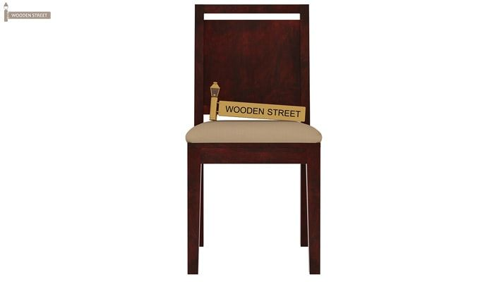 Orson Compact 6 Seater Dining Chair and Table (Mahogany Finish)-6