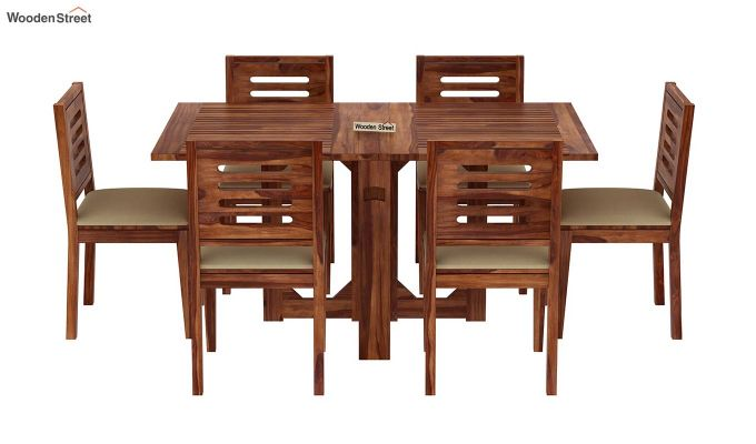 Paul 6 Seater Dining Set (Teak Finish)-3