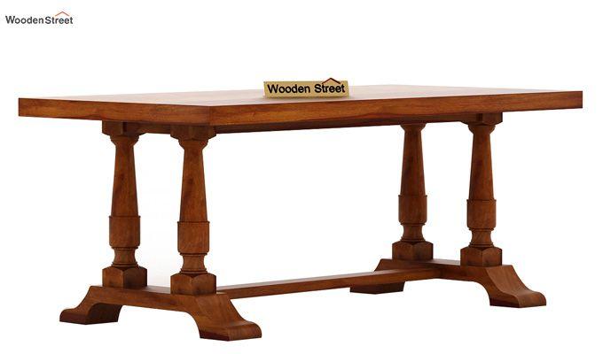 Redigo 6 Seater Dining Table Set (Honey Finish)-3