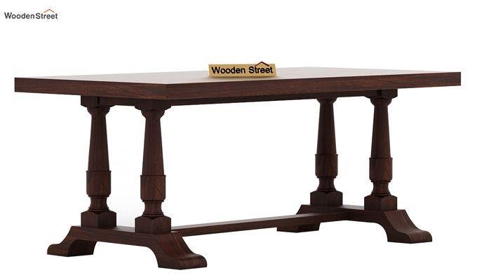 Redigo 6 Seater Dining Table Set (Walnut Finish)-6