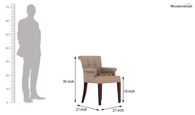 Redigo 6 Seater Dining Table Set (Walnut Finish)-9