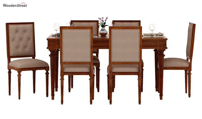 Rover 6 Seater Dining Set (Honey Finish)-3