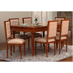 Rover 6 Seater Dining Set (Honey Finish)