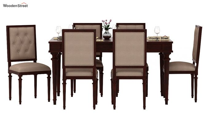 Rover 6 Seater Dining Set (Mahogany Finish)-2