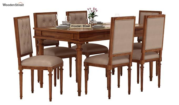 Rover 6 Seater Dining Set (Teak Finish)-1