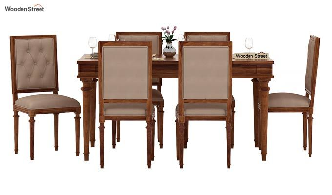 Rover 6 Seater Dining Set (Teak Finish)-2
