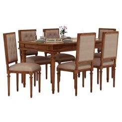 Rover 6 Seater Dining Set (Teak Finish)