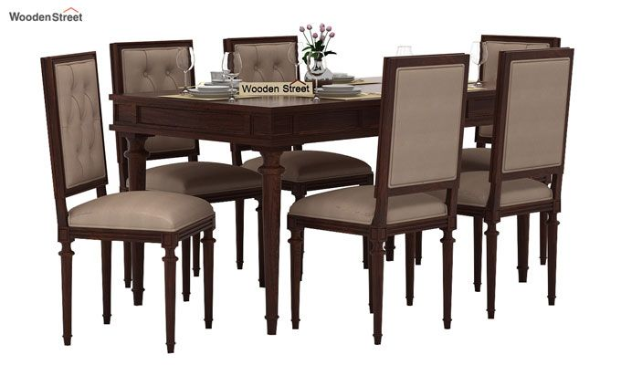 Rover 6 Seater Dining Set (Walnut Finish)-2