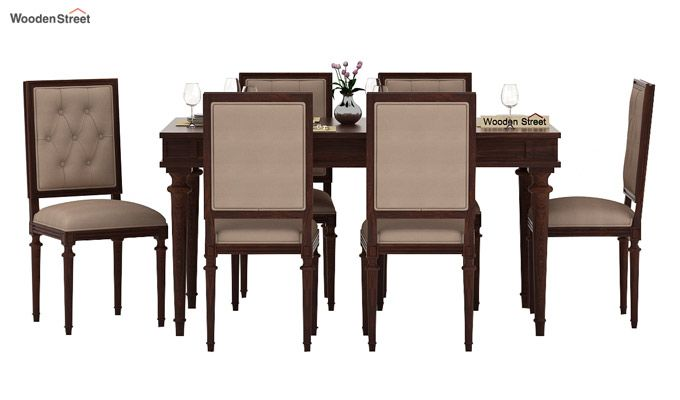 Rover 6 Seater Dining Set (Walnut Finish)-1