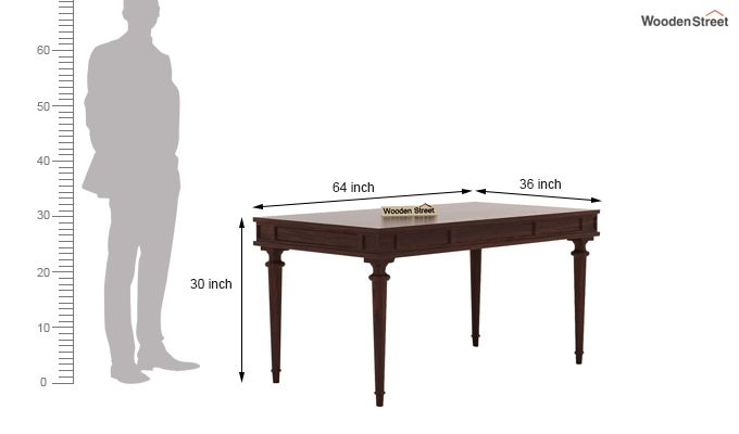 Rover 6 Seater Dining Set (Walnut Finish)-7