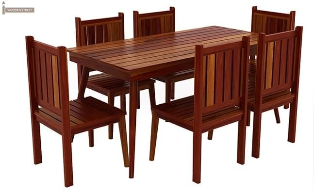 Dawson 6 Seater Dining Set (Honey Finish)-2