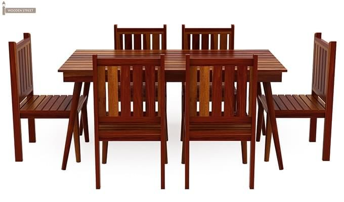 Dawson 6 Seater Dining Set (Honey Finish)-3