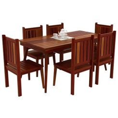 Dawson 6 Seater Dining Set (Honey Finish)