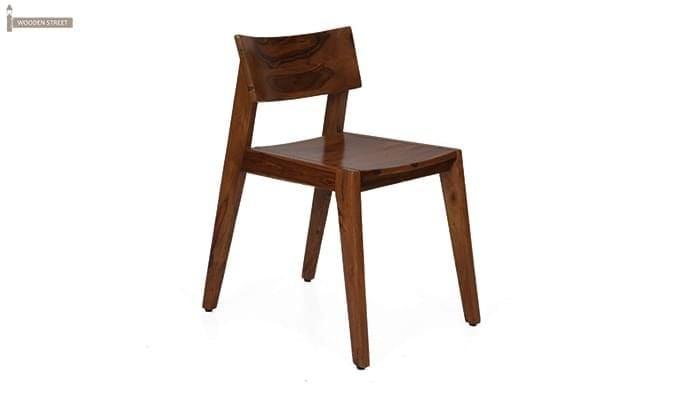 Tancy 6 Seater Extendable Dining Set (Teak Finish)-7