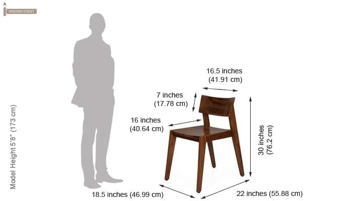 Tancy Dining Chair (Teak Finish)-5