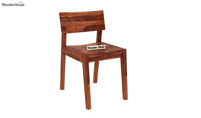 Tancy 6 Seater Extendable Dining Set (Honey Finish)-11