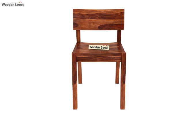 Tancy 6 Seater Extendable Dining Set (Honey Finish)-12