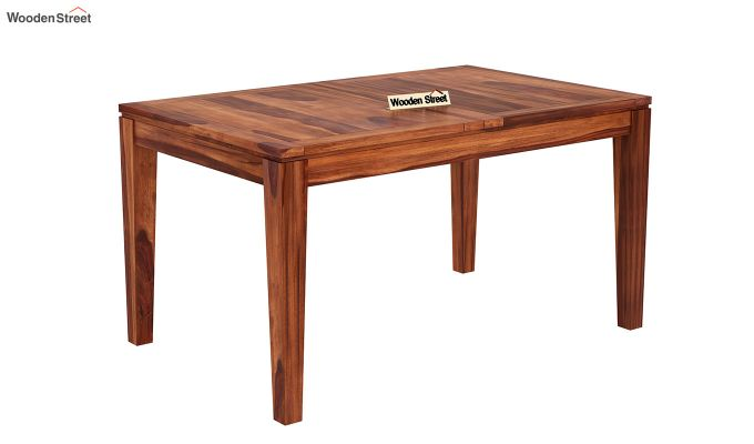 Tancy 6 Seater Extendable Dining Set (Honey Finish)-8