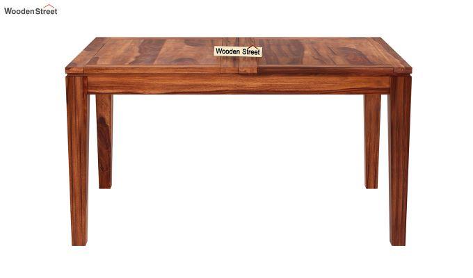 Tancy 6 Seater Extendable Dining Set (Honey Finish)-9