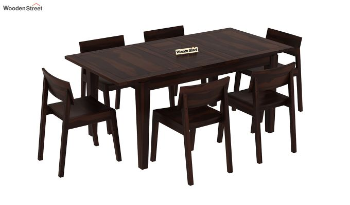 Tancy 6 Seater Extendable Dining Set (Walnut Finish)-2