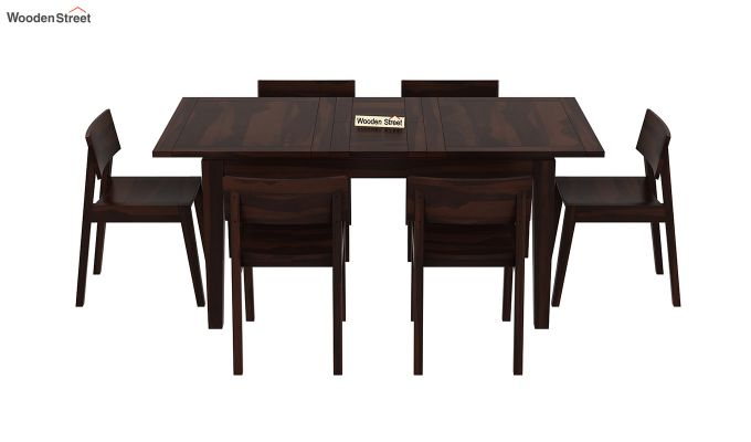 Tancy 6 Seater Extendable Dining Set (Walnut Finish)-3