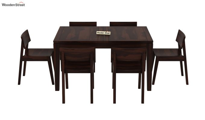 Tancy 6 Seater Extendable Dining Set (Walnut Finish)-5
