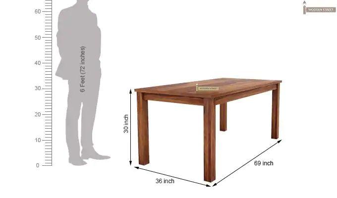 Terex 6 Seater Dining Set With Bench (Teak Finish)-9