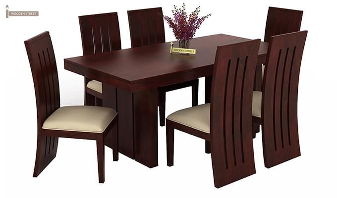 Wertex 6 Seater Dining Set (Mahogany Finish)-2