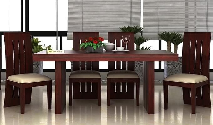Wertex 6 Seater Dining Set (Mahogany Finish)-1