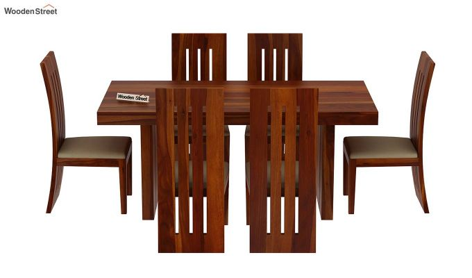Wertex 6 Seater Dining Set (Honey Finish)-4