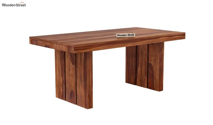 Wertex 6 Seater Dining Set (Teak Finish)-5