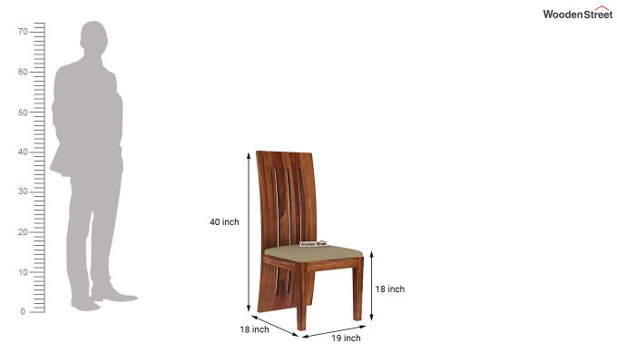 Wertex 6 Seater Dining Set (Teak Finish)-10