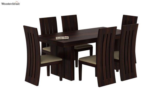 Wertex 6 Seater Dining Set (Walnut Finish)-3
