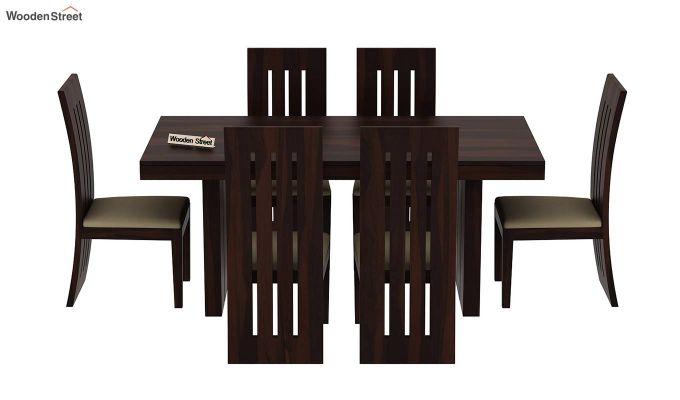 Wertex 6 Seater Dining Set (Walnut Finish)-4