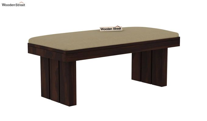 Wertex 6 Seater Dining Set with Bench (Walnut Finish)-9