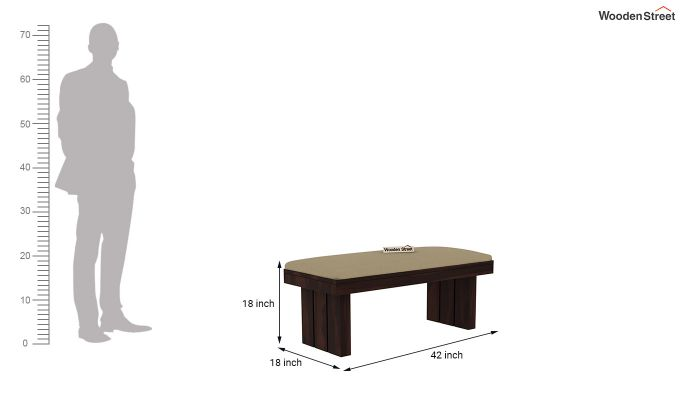 Wertex 6 Seater Dining Set with Bench (Walnut Finish)-13