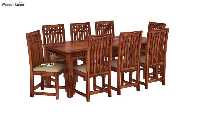 Adolph 8 Seater Dining Set (Honey Finish)-2