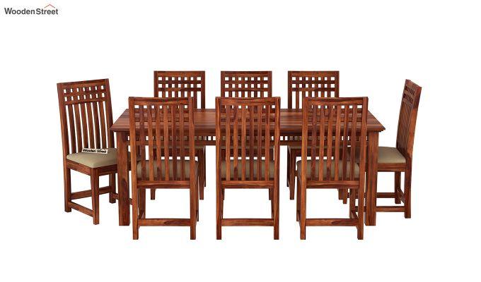 Adolph 8 Seater Dining Set (Honey Finish)-3