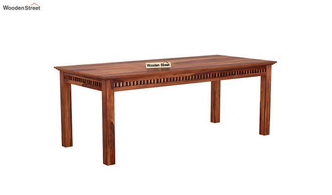 Adolph 8 Seater Dining Set (Honey Finish)-4