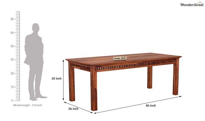 Adolph 8 Seater Dining Set (Honey Finish)-8
