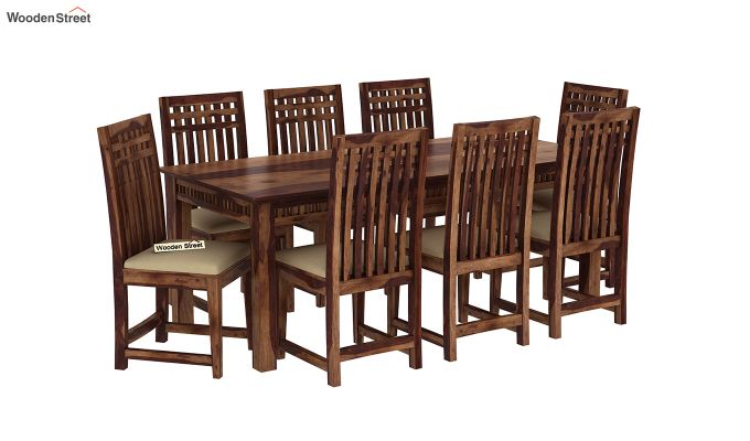 Adolph 8 Seater Dining Set (Teak Finish)-2