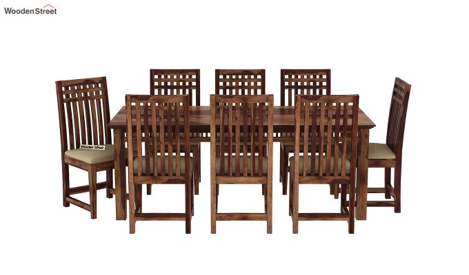 Adolph 8 Seater Dining Set (Teak Finish)-3