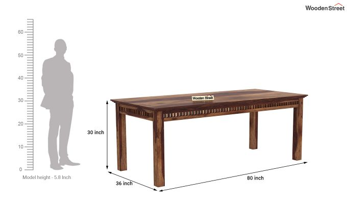 Adolph 8 Seater Dining Set (Teak Finish)-8