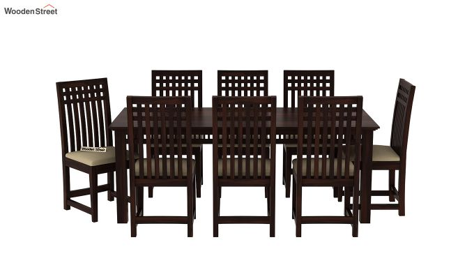 Adolph 8 Seater Dining Set (Walnut Finish)-3