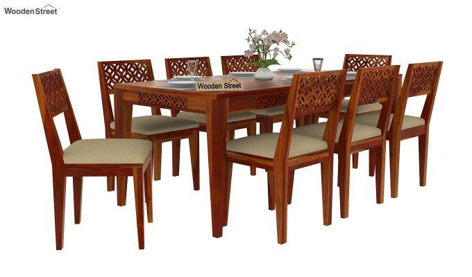 Cambrey 8 Seater Dining Set (Honey Finish)-2