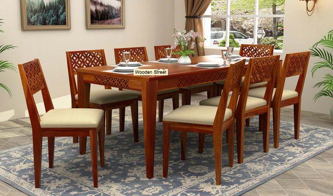 Cambrey 8 Seater Dining Set (Honey Finish)-1