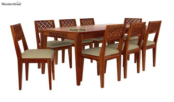 Cambrey 8 Seater Dining Set (Honey Finish)-3