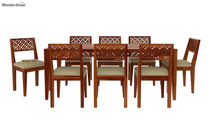 Cambrey 8 Seater Dining Set (Honey Finish)-4